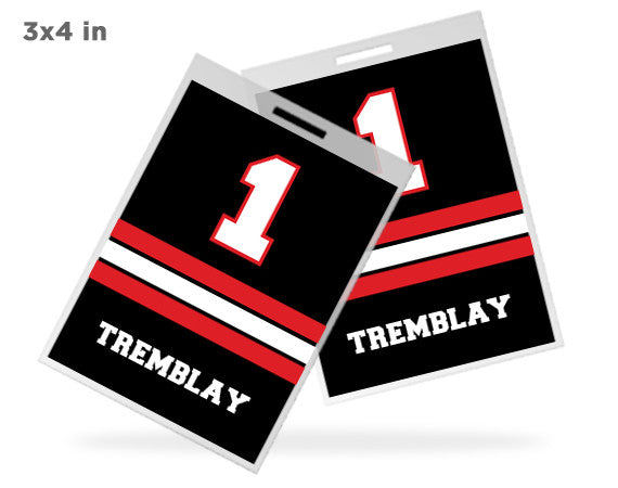 custom event bag tags for sports gear sporting fanatic. Black Bedroom Furniture Sets. Home Design Ideas