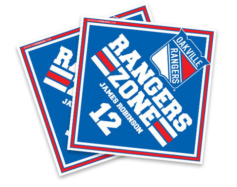 Oakville Rangers Bedroom Signs