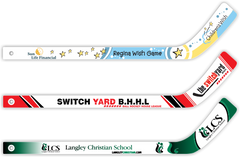 Mini Hockey Sticks - Custom Design