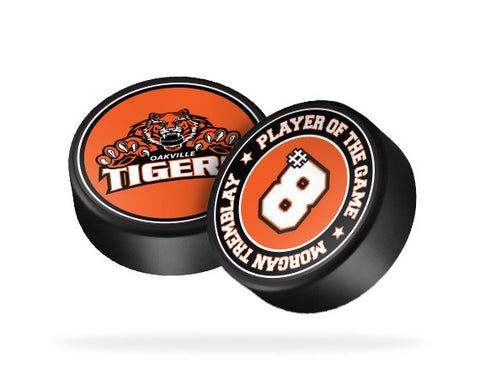 Oakville Tigers Hockey Puck Sticker
