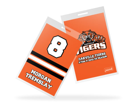 Oakville Tigers Custom Bag Tags