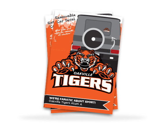 Oakville Tigers Car Decal