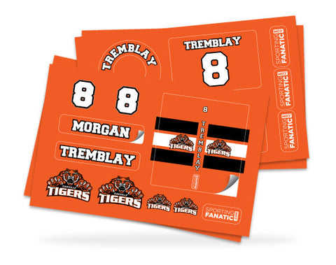 Oakville Tigers Hockey Label Pack