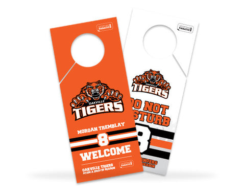 Oakville Tigers Hotel Door Hanger