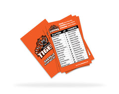 Oakville Tigers Team Roster Card