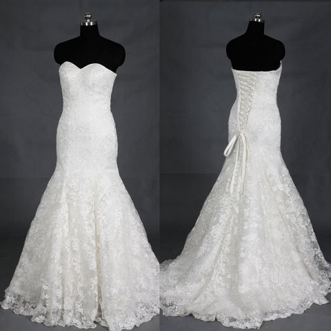 Sweetheart mermaid lace wedding dress