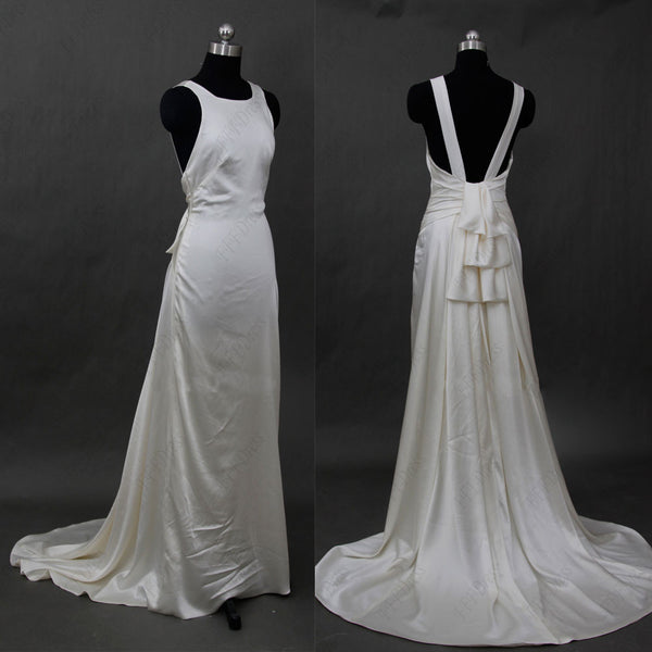Halter backless wedding dresses