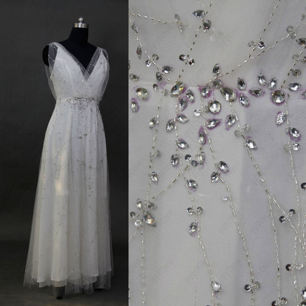 Crystal beaded wedding dresses