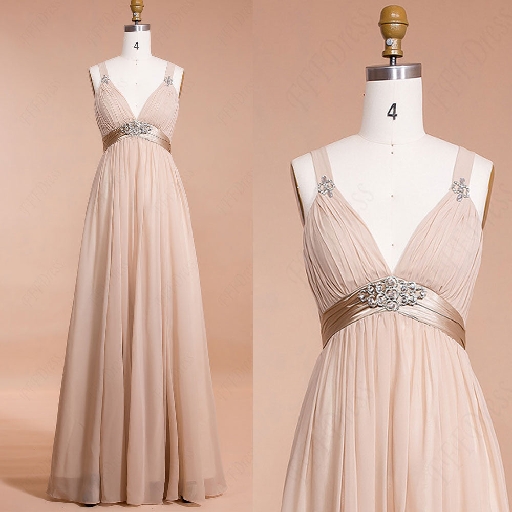 Champagne maternity bridesmaid dresses for pregnant maid for Maid of honor wedding dresses