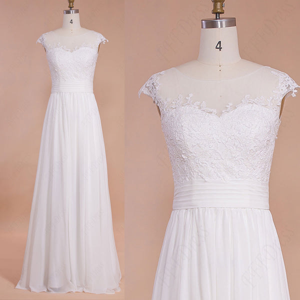 Chiffon beach wedding dresses destination bridal dresses