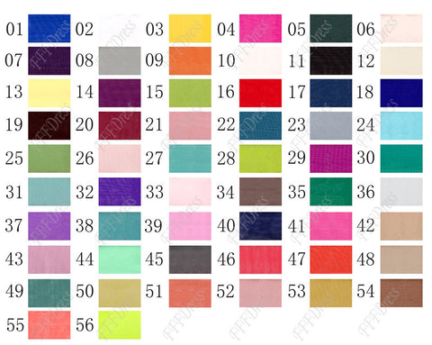 Color chart 30D thin chiffon