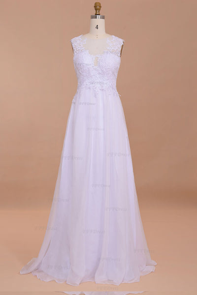 Backless wedding dresses chiffon beach wedding dresses Lace destination wedding dresses