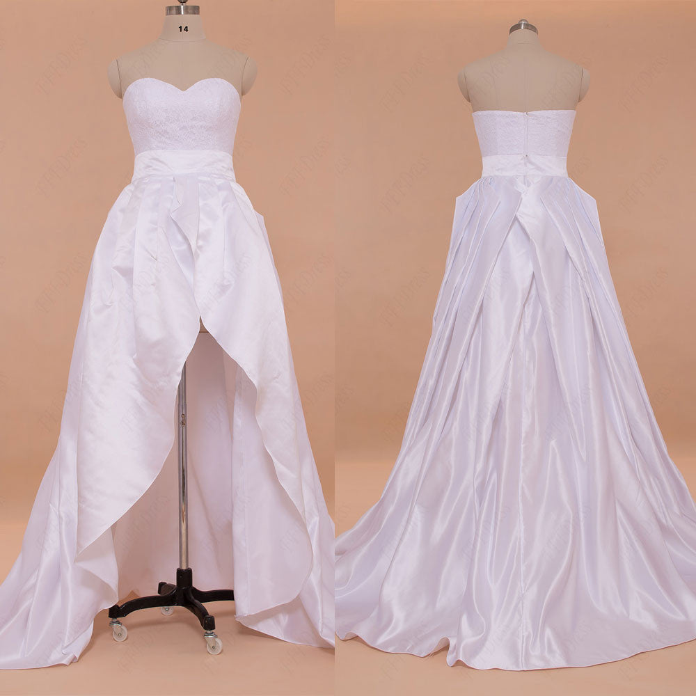 Two Pieces High Low Wedding Dresses