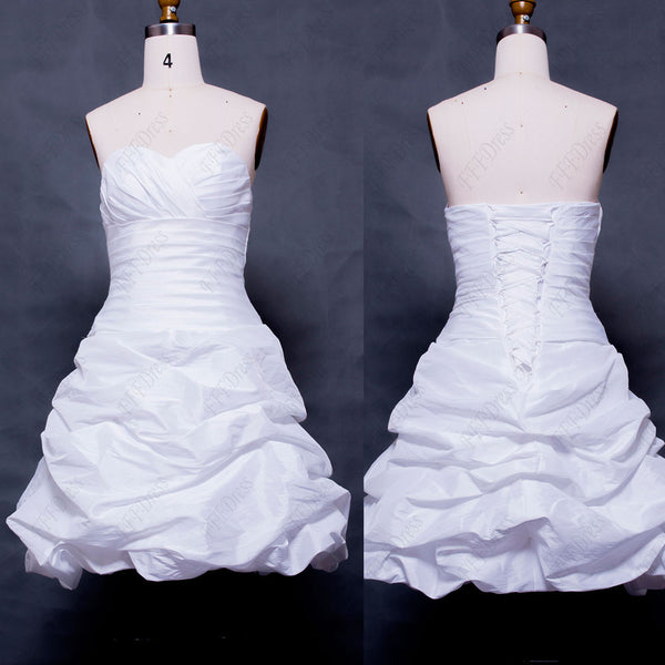 Sweetheart White Short Prom Dress Homecoming Dresses