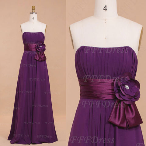 Purple long bridesmaid dresses