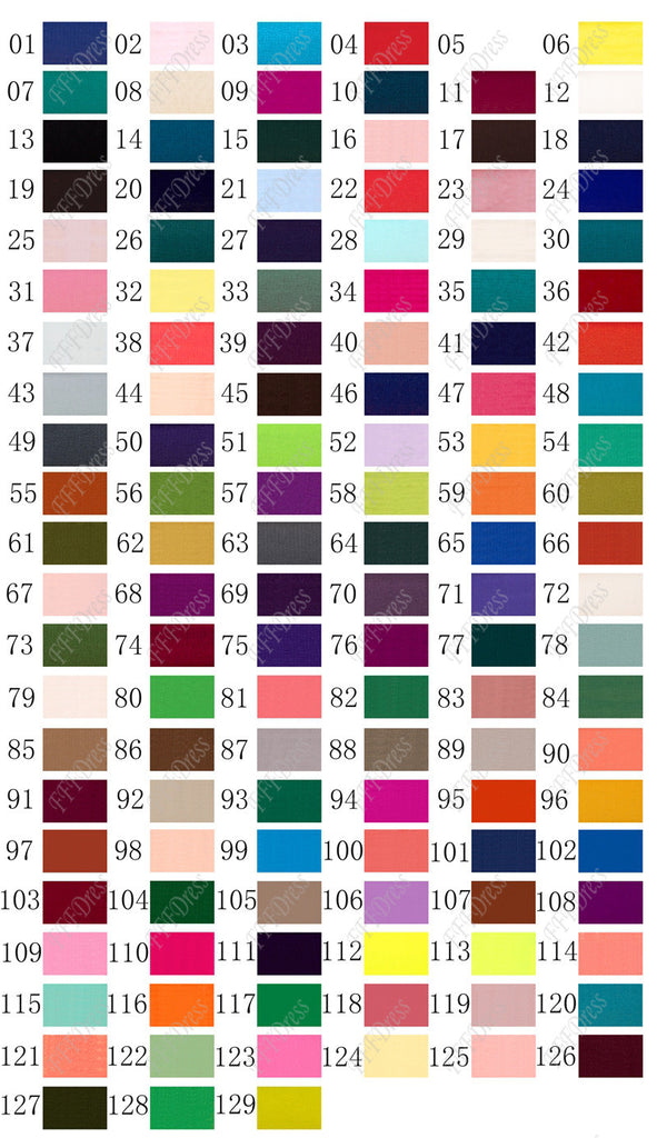 Color Swatch Composite Silky Chiffon