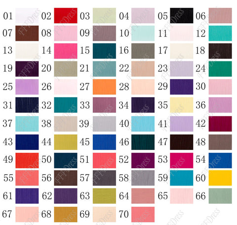 Crepe Chiffon Color Swatch