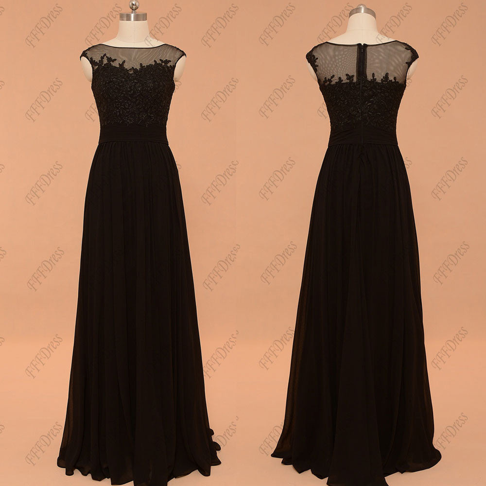 f4c360f2e7a5 Black lace evening dresses plus size formal dresses cap sleeve – MyPromDress