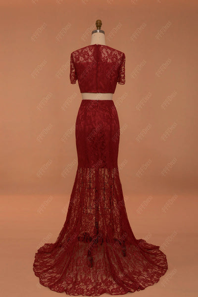 Mermaid burgundy prom dresses