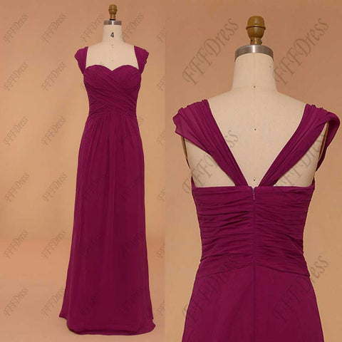 Magenta mix and match bridesmaid dresses