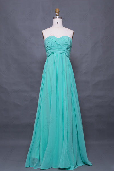 Sweetheart mint bridesmaid dresses for spring and summer wedding