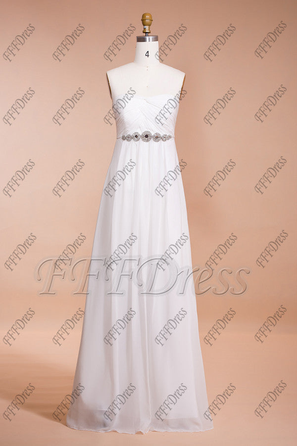 af915d11f ... Chiffron Beach Wedding Dresses with Crystals Destination Wedding Dresses  ...