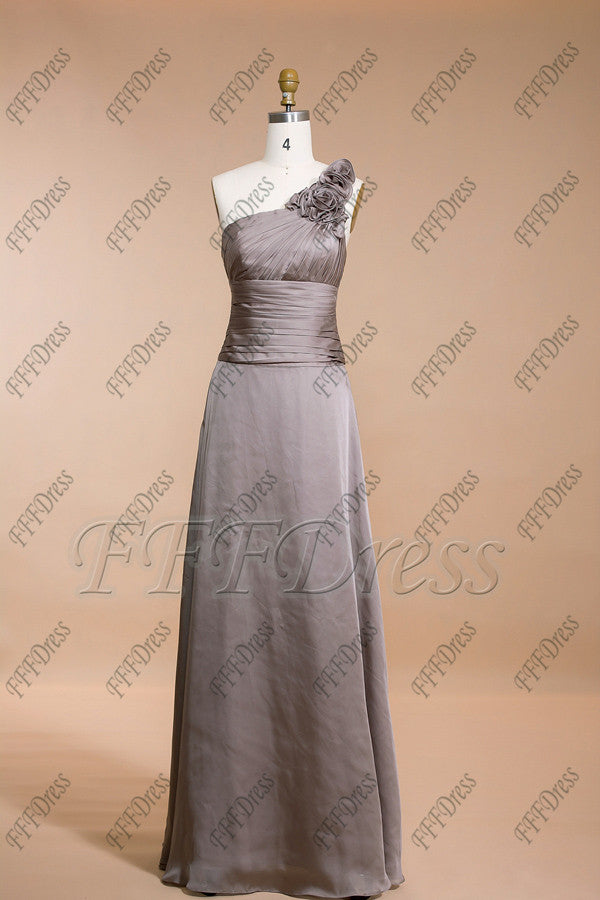 Grey Long Bridesmaid Dresses Formal Dresses Plus Size Mypromdress