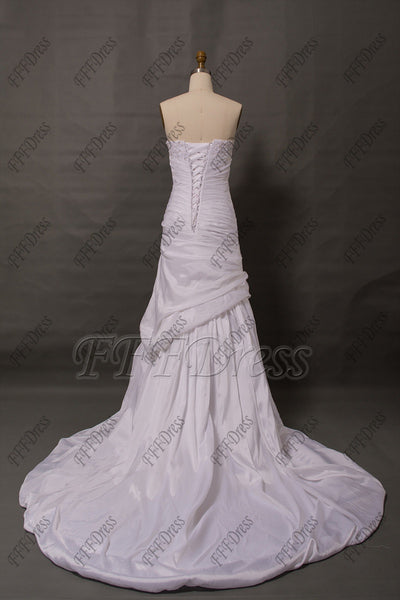 White Trumpet lace wedding dresses