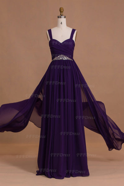 Purple long bridesmaid dresses Maid of honor dresses