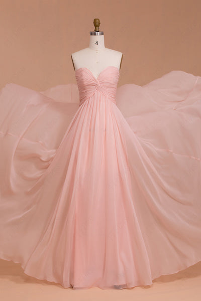 Sweetheart Pink Maternity bridesmaid dresses for pregnant
