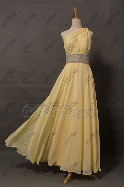 Yellow Backless sparkle prom dresses long