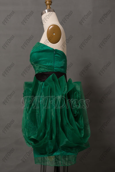 Emerald green short prom dresses homecoming dresses
