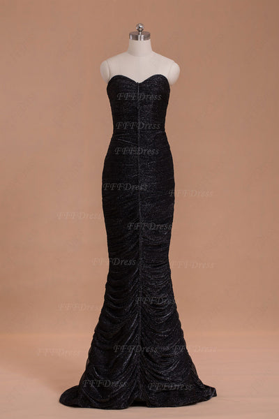 Black mermaid long formal dresses evening dresses