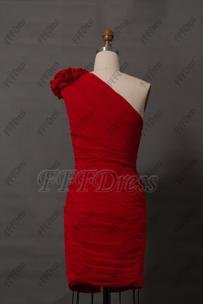 Red cocktail dresses short evening dress