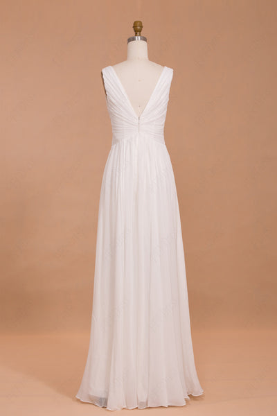 Chiffon beach wedding dresses Destination wedding dresses