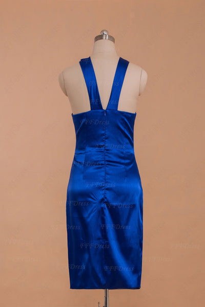 Sheath royal blue homecoming dresses cocktail dresses