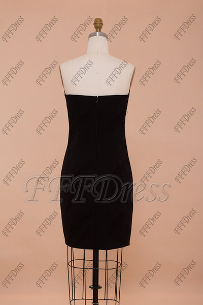Sheath black homecoming dresses little black dresses