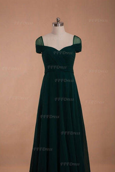 Maid of honor dress Forest green bridesmaid dresses