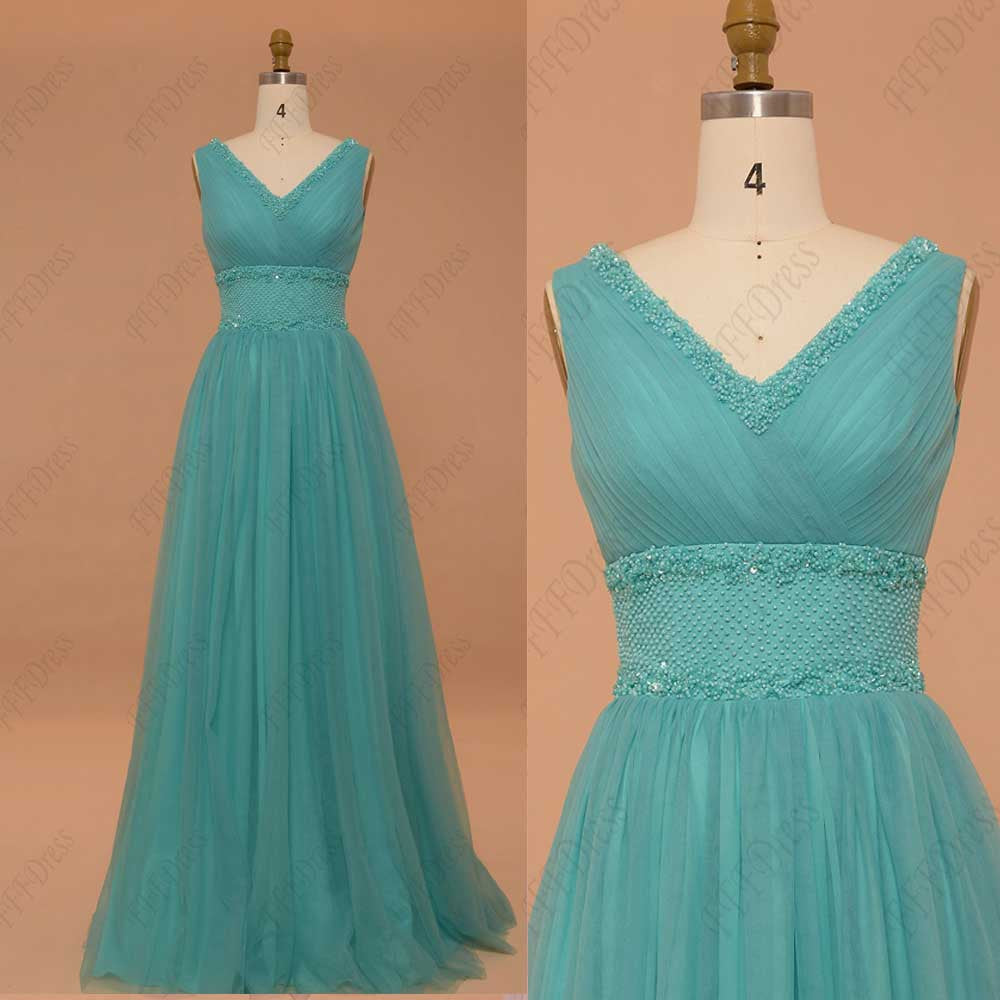 turquoise prom dresses beaded evening dresses plus size – MyPromDress
