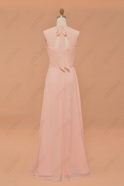Soft peach bridesmaid dresses mix and match