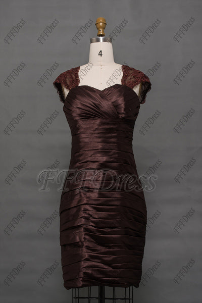 Brown mother of the bride dress knee length