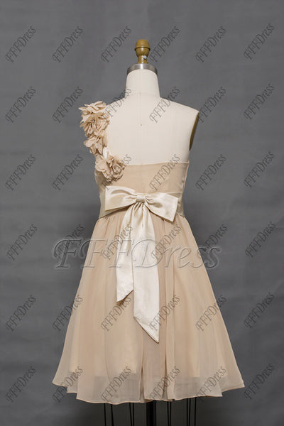 Champagne Short Bridesmaid Dresses