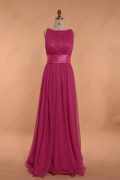 Modest hot pink formal dresses plus size