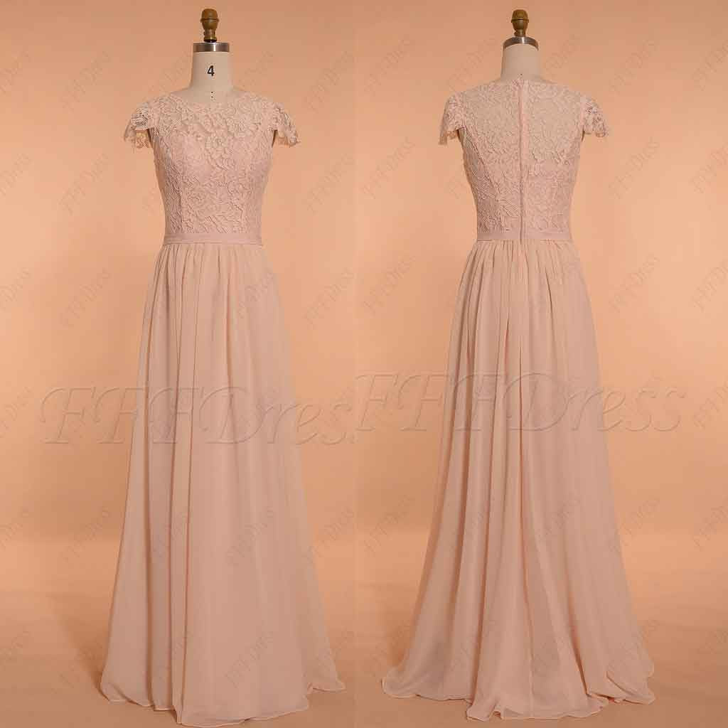 Cap sleeves oasis bridesmaid dresses long modest evening dress blush modest bridesmaid dresses long ombrellifo Choice Image