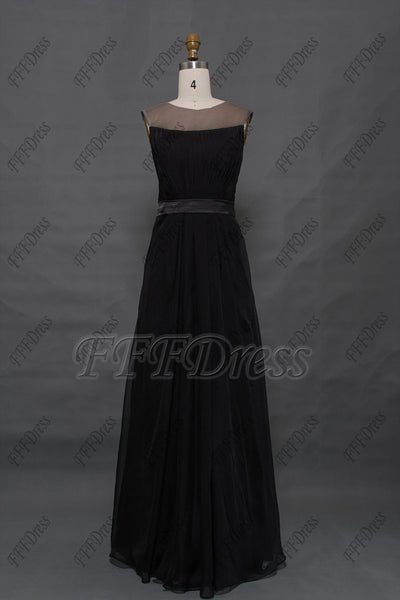 Modest black formal dresses plus size