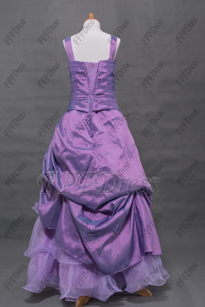 Lavender tiered flower girl dress