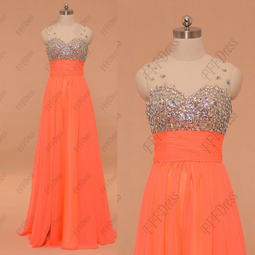 Sparkly crystals prom dresses long pageant dress