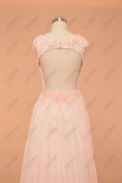 Pink Backless prom dresses long pageant dresses
