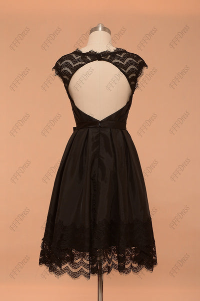 Black backless short prom dresses homecoming dresses