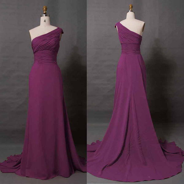 Elegant pale magenta evening dresses long